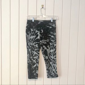 Nike Black and Grey Cropped Leggings